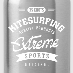 35 Knots Kitesurfing White Design - Water Bottle
