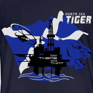 Oil Rig Oil Field North Sea Tiger Aberdeen - Men's Organic T-shirt