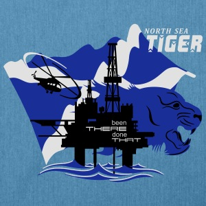 Oil Rig Oil Field North Sea Tiger Aberdeen - Shoulder Bag made from recycled material