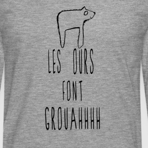 tee shirt humour ours ado - T-shirt manches longues Premium Homme