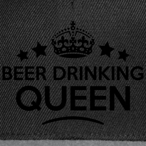 beer drinking queen keep calm style WOMENS T-SHIRT - Snapback Cap