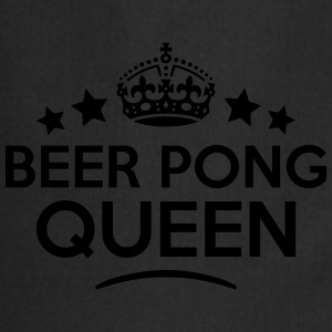 beer pong queen keep calm style WOMENS T-SHIRT - Cooking Apron