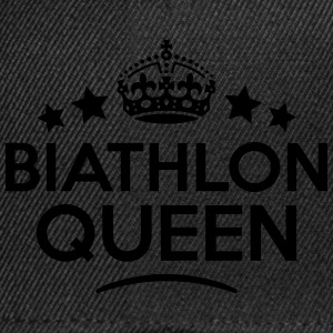 biathlon queen keep calm style WOMENS T-SHIRT - Snapback Cap