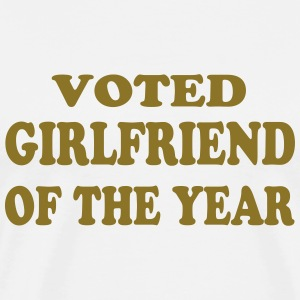 Voted girlfriend of the year Kookschorten - Mannen Premium T-shirt