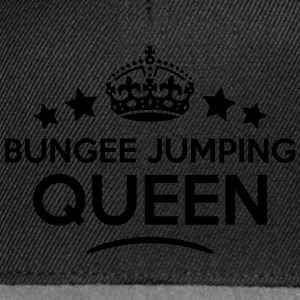 bungee jumping queen keep calm style cop WOMENS T- - Snapback Cap