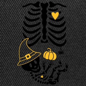 Maternity Skeleton Witch Hat T-Shirts - Snapback Cap