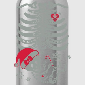 Santa Hat Skeleton Maternity Baby Girl T-Shirts - Water Bottle