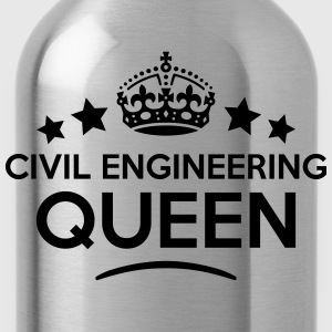 civil engineering queen keep calm style  WOMENS T- - Water Bottle