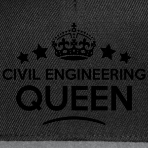 civil engineering queen keep calm style  WOMENS T- - Snapback Cap