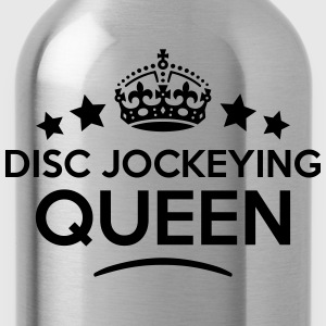 disc jockeying queen keep calm style cop WOMENS T- - Water Bottle