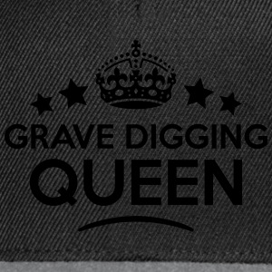 grave digging queen keep calm style WOMENS T-SHIRT - Snapback Cap