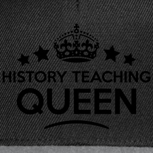 history teaching queen keep calm style c WOMENS T- - Snapback Cap
