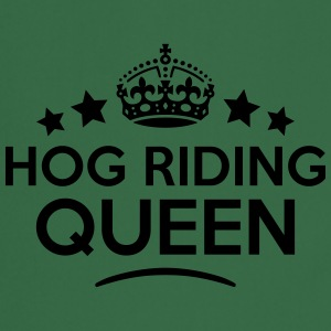 hog riding queen keep calm style WOMENS T-SHIRT - Cooking Apron