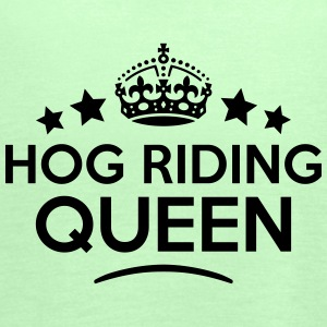 hog riding queen keep calm style WOMENS T-SHIRT - Women's Tank Top by Bella