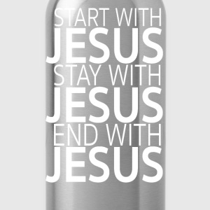 Start with Jesus Tops - Trinkflasche