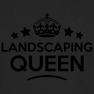 landscaping queen keep calm style WOMENS T-SHIRT - Men's Premium Longsleeve Shirt