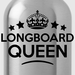 longboard queen keep calm style WOMENS T-SHIRT - Water Bottle