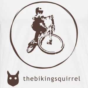 thebikingsquirrel Text Long sleeve shirts - Men's Premium T-Shirt