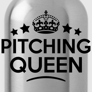 pitching queen keep calm style WOMENS T-SHIRT - Water Bottle