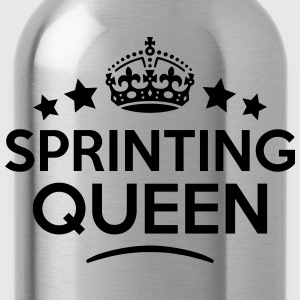 sprinting queen keep calm style WOMENS T-SHIRT - Water Bottle
