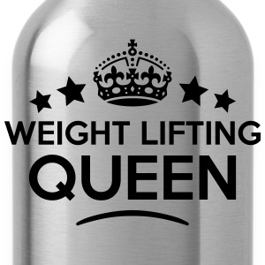 weight lifting queen keep calm style cop WOMENS T- - Water Bottle