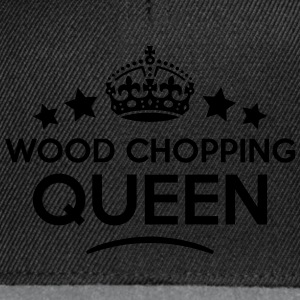 wood chopping queen keep calm style WOMENS T-SHIRT - Snapback Cap