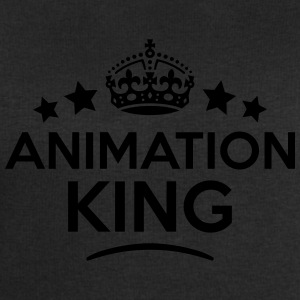 animation king keep calm style crown sta T-SHIRT - Men's Sweatshirt by Stanley & Stella
