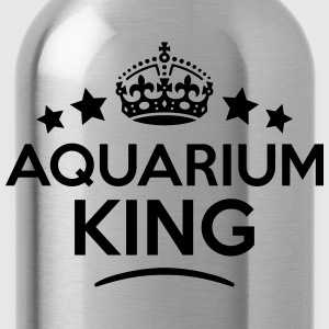 aquarium king keep calm style crown star T-SHIRT - Water Bottle