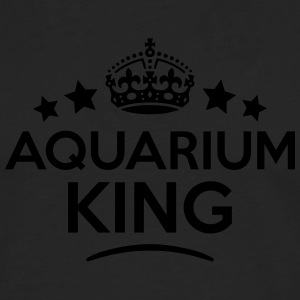 aquarium king keep calm style crown star T-SHIRT - Men's Premium Longsleeve Shirt