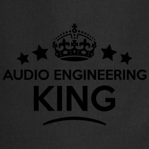 audio engineering king keep calm style c T-SHIRT - Cooking Apron