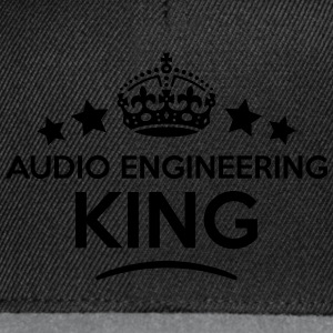 audio engineering king keep calm style c T-SHIRT - Snapback Cap