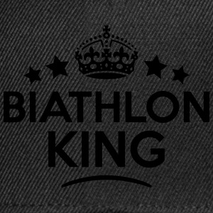 biathlon king keep calm style crown star T-SHIRT - Snapback Cap