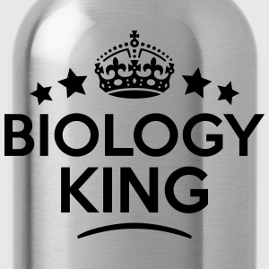 biology king keep calm style crown stars T-SHIRT - Water Bottle