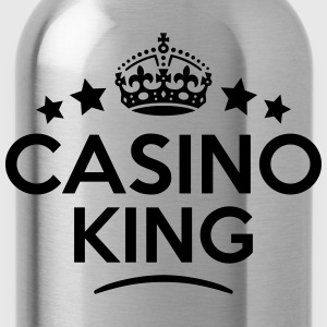 casino king keep calm style crown stars T-SHIRT - Water Bottle