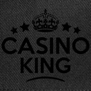 casino king keep calm style crown stars T-SHIRT - Snapback Cap