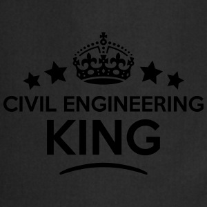 civil engineering king keep calm style c T-SHIRT - Cooking Apron