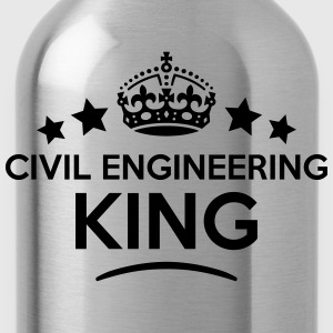 civil engineering king keep calm style c T-SHIRT - Water Bottle