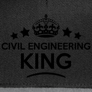 civil engineering king keep calm style c T-SHIRT - Snapback Cap