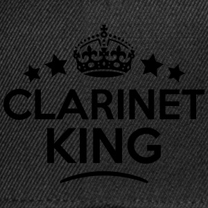 clarinet king keep calm style crown star T-SHIRT - Snapback Cap