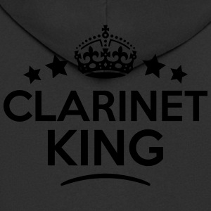 clarinet king keep calm style crown star T-SHIRT - Men's Premium Hooded Jacket