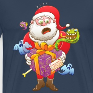 A Christmas Gift from Halloween Creepies to Santa Long Sleeve Shirts - Men's Premium T-Shirt