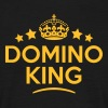 domino king keep calm style crown stars T-SHIRT - Men's T-Shirt