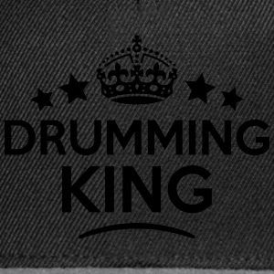drumming king keep calm style crown star T-SHIRT - Snapback Cap