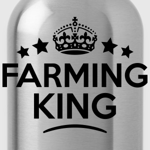 farming king keep calm style crown stars T-SHIRT - Water Bottle