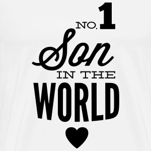 no1 son of the world Toppar - Premium-T-shirt herr