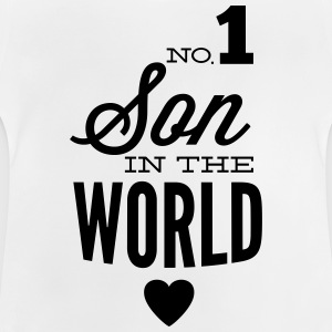 no1 son of the world Sweats - T-shirt Bébé