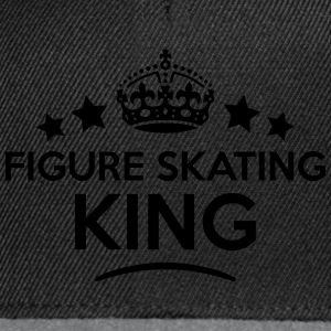 figure skating king keep calm style crow T-SHIRT - Snapback Cap