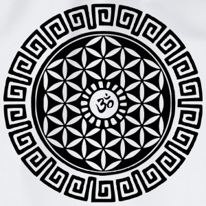 Om Flower of Life Buttons - Drawstring Bag