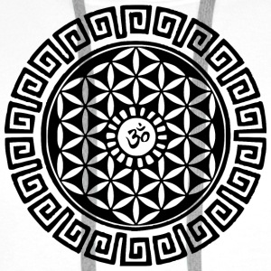 Om Flower of Life Buttons - Men's Premium Hoodie