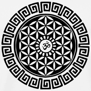 Om Flower of Life Buttons - Men's Premium T-Shirt